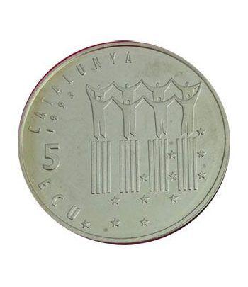 5 ECU. ECU de Catalunya. Pau Casals. (1993). Incluye CD.  - 2
