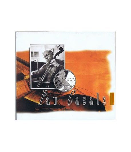 5 ECU. ECU de Catalunya. Pau Casals. (1993). Incluye CD.  - 1