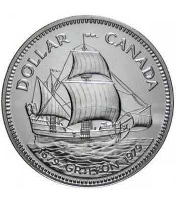 Canada 1$ 1979 Barco Griffon. Plata  - 1