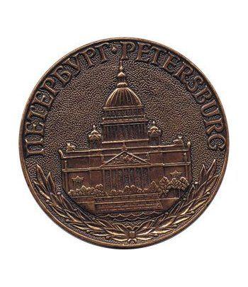 Medalla St. Petersburgo. Catedral de Isaac (1818-1858) Bronce.  - 1