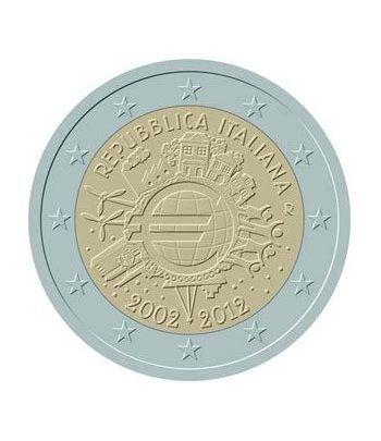 """moneda Italia 2 euros 2012 """"X ANIVERSARIO DEL EURO"""".  - 2"""