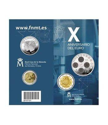 Cartera oficial euroset 30 Euros + 2 Euros Xº Aniv. Euro 2012.  - 1