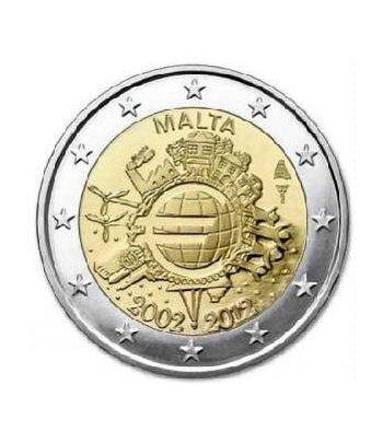 "moneda Malta 2 euros 2012 ""X ANIVERSARIO DEL EURO"".  - 2"
