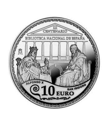 Moneda 2012 III Centenario Biblioteca Nacional. 10 euros. Plata.  - 1