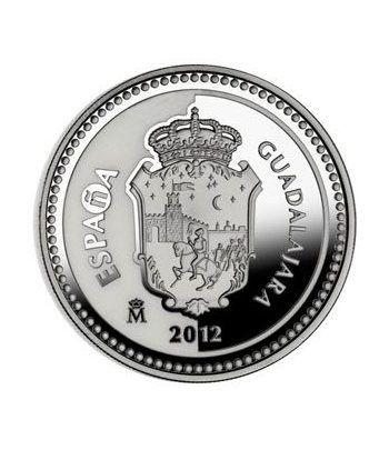 Moneda 2012 Capitales de provincia. Guadalajara. 5 euros. Plata.  - 4
