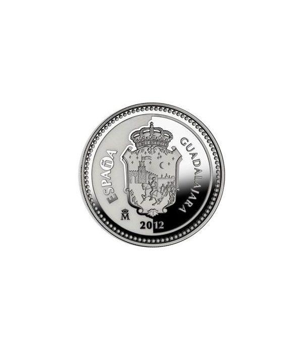 Moneda 2012 Capitales de provincia. Guadalajara. 5 euros. Plata.  - 1