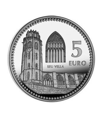 Moneda 2012 Capitales de provincia. Lleida. 5 euros. Plata.  - 2