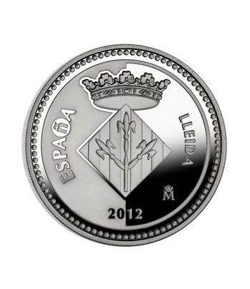 Moneda 2012 Capitales de provincia. Lleida. 5 euros. Plata.  - 4