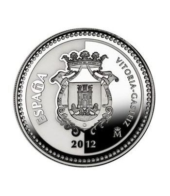 Moneda 2012 Capitales de provincia. Vitoria. 5 euros. Plata.  - 4