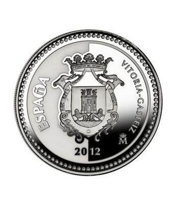 Moneda 2012 Capitales de provincia. Vitoria. 5 euros. Plata.  - 1