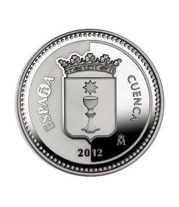 Moneda 2012 Capitales de provincia. Cuenca. 5 euros. Plata.  - 4