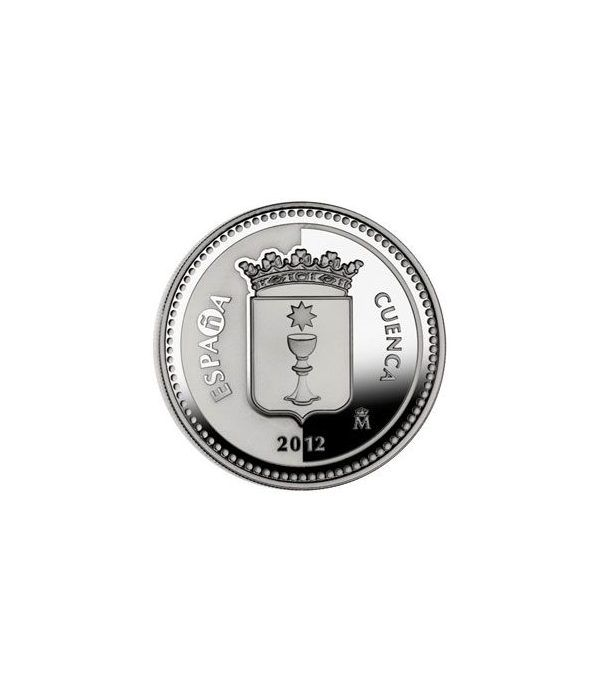 Moneda 2012 Capitales de provincia. Cuenca. 5 euros. Plata.  - 1