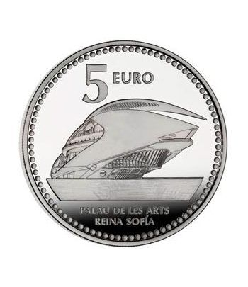 Moneda 2012 Capitales de provincia. Valencia. 5 euros. Plata.  - 2