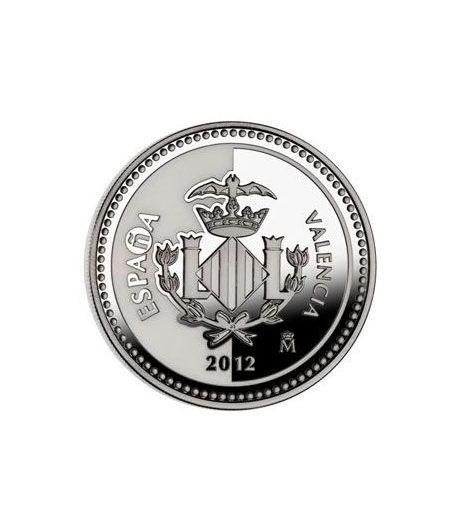 Moneda 2012 Capitales de provincia. Valencia. 5 euros. Plata.  - 1