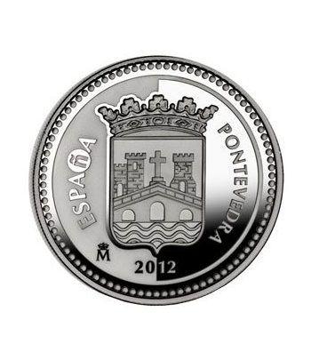 Moneda 2012 Capitales de provincia. Pontevedra. 5 euros. Plata.  - 1