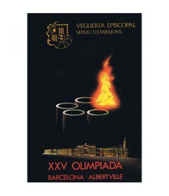 Monedas de plata Andorra Olimpiadas Barcelona y Albertville'92.  - 1