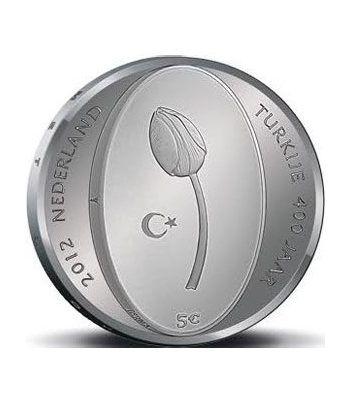 Holanda 5 Euros 2012 400 Años Relaciones Holanda y Turquía  - 1