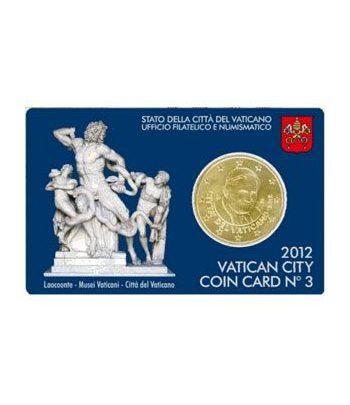 Cartera oficial euroset Vaticano 2012 (moneda 50cts.)  - 2