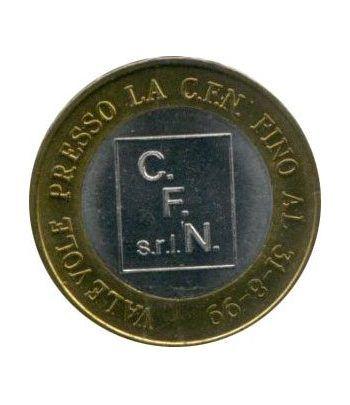 Euro prueba Italia 1 euro. C.F. N. Milan.  - 1