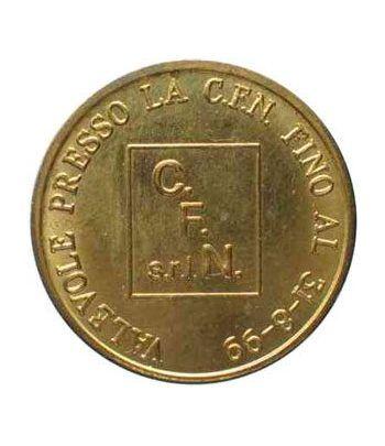 Euro prueba Italia 50 centimos de euro. C.F.N. Milán.  - 1