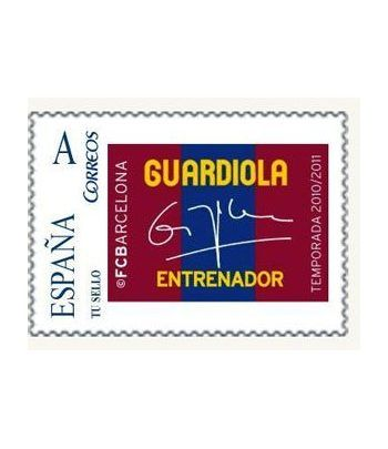 Colección Filatélica Oficial F.C. Barcelona. Pack nº10.Guardiola  - 2