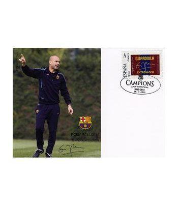 Colección Filatélica Oficial F.C. Barcelona. Pack nº10.Guardiola  - 8