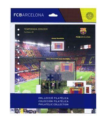 Colección Filatélica Oficial F.C. Barcelona. Pack nº10.Guardiola  - 10