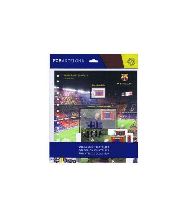Colección Filatélica Oficial F.C. Barcelona. Pack nº10.Guardiola  - 1