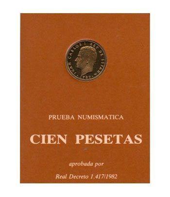 (1982) estuche 100 ptas. Prueba Numismática.  - 2