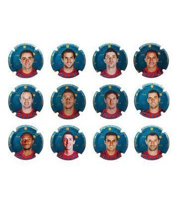 Placas de Cava. Colección oficial FC Barcelona. (23) Jugadores.  - 1