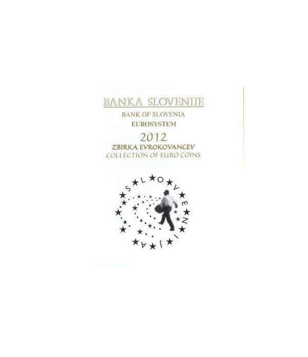 Cartera oficial euroset Eslovenia 2012 (incluye 2 y 3 euros).  - 1