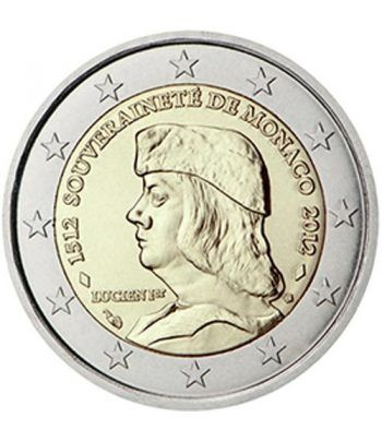 moneda conmemorativa 2 euros Monaco 2012. Lucien 1er.  - 2
