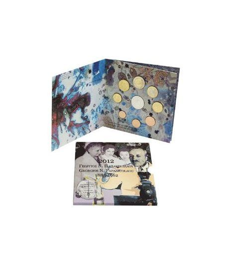 Euroset oficial de Grecia 2012 con 10€ Papanicolau  - 1
