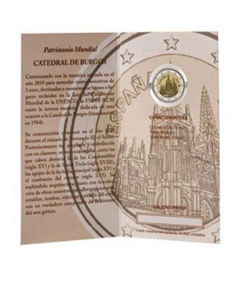 Cartera oficial euroset 2 Euros España 2012 Burgos. Proof.  - 2