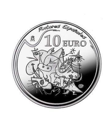 Moneda 2012 Pintores Españoles. Miró. 10 euros. Plata. Estrella  - 1