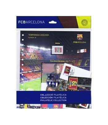 Colección Filatélica Oficial F.C. Barcelona. Pack nº18.  - 10