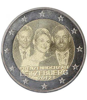moneda conmemorativa 2 euros Luxemburgo 2012. Boda.  - 2