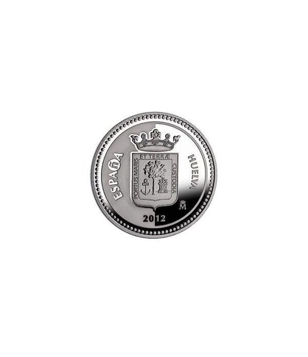 Moneda 2012 Capitales de provincia. Huelva. 5 euros. Plata.  - 1