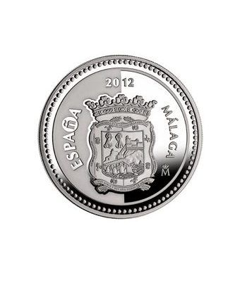 Moneda 2012 Capitales de provincia. Málaga. 5 euros. Plata.  - 1