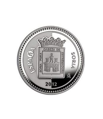 Moneda 2012 Capitales de provincia. Soria. 5 euros. Plata.  - 1