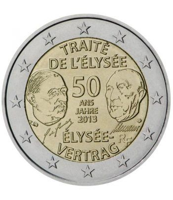 moneda conmemorativa 2 euros Francia 2013. (Tratado de Eliseo)  - 2