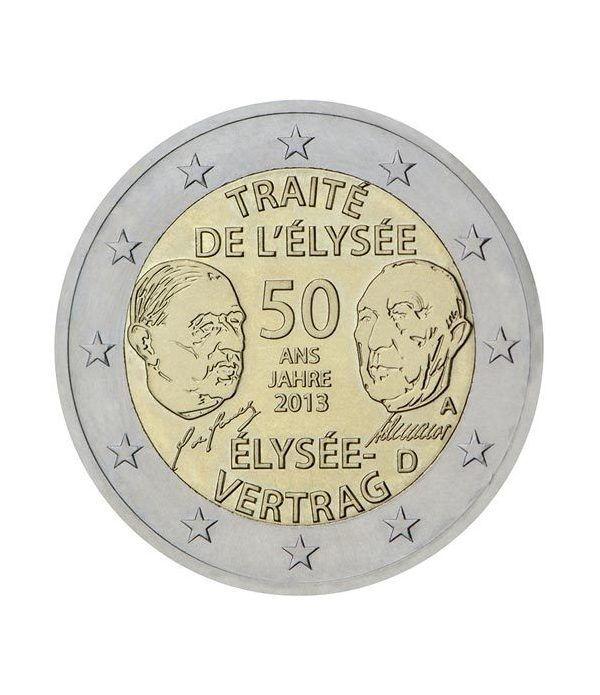 moneda conmemorativa 2 euros Alemania 2013(5mon.)Tratado Eliseo.  - 2