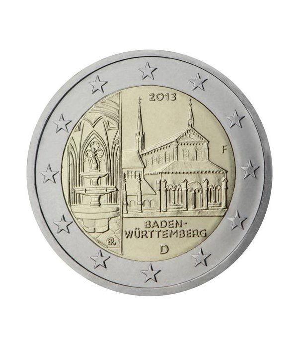 moneda conmemorativa 2 euros Alemania 2013. 5 monedas.  - 2