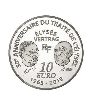 Francia 10 € 2013 Europa 50 Aniversario Tratado del Eliseo.  - 1