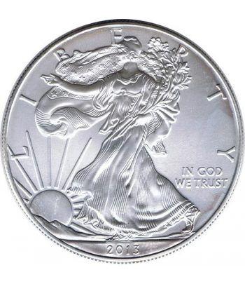 Moneda onza de plata 1$ Estados Unidos Liberty 2013  - 1