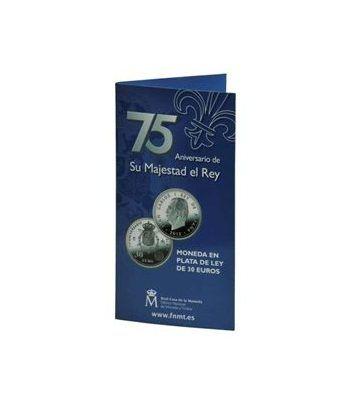 Cartera oficial euroset 30 Euros 2013. 75º Aniv. S. M. El Rey.  - 1