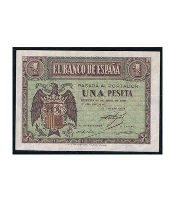 (1938/04/30) Burgos. 1 Peseta. SC. Serie D3668743.  - 1