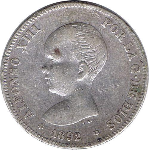 Monedas 2 Pesetas de Plata