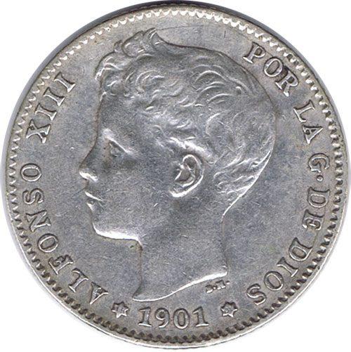 Monedas 1 Peseta de Plata