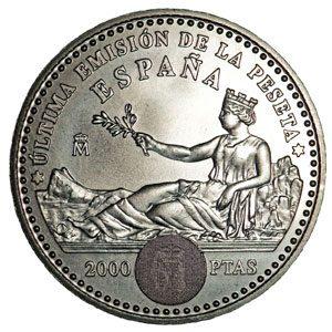 Monedas 2000 pesetas de plata